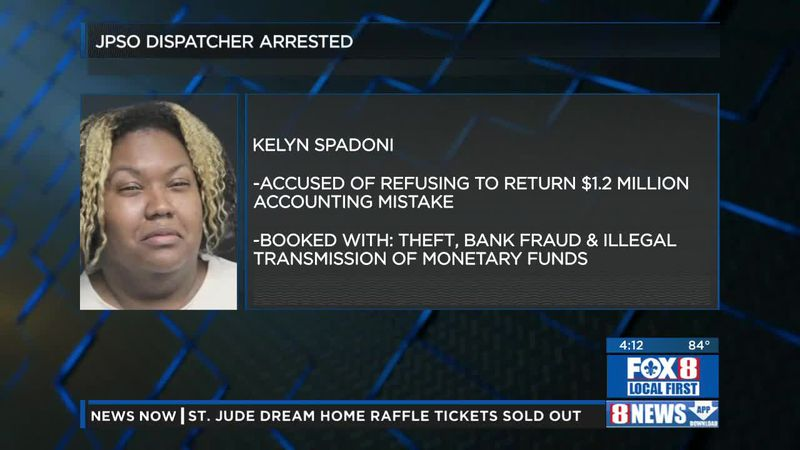 Deputies said a former Louisiana dispatcher was arrested after she refused to return $1.2...