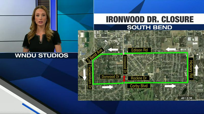 Ironwood Drive closed next week due to water service line repair