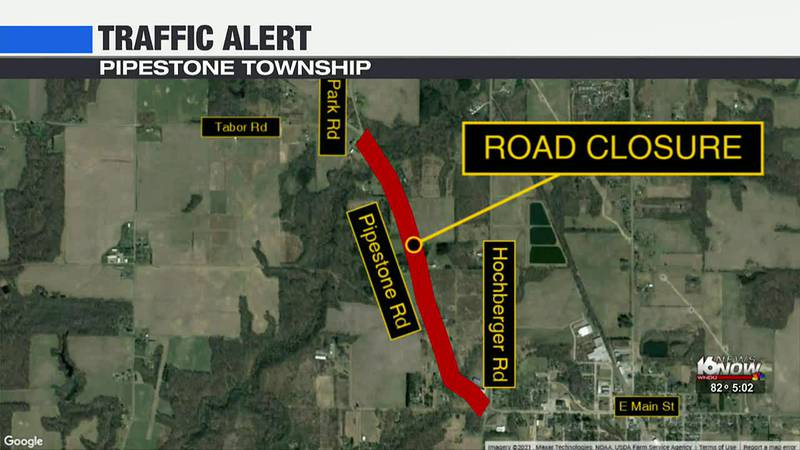 Pipestone Road in Berrien County closed for work