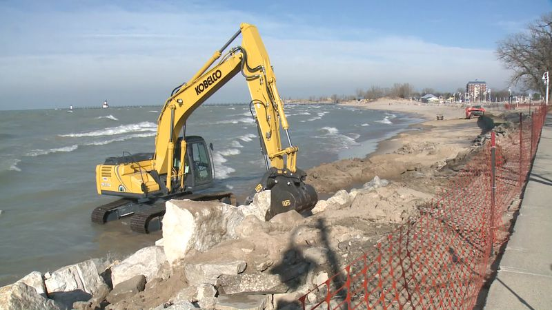 A $130,000 erosion control project is underway at Silver Beach County Park in Berrien County.