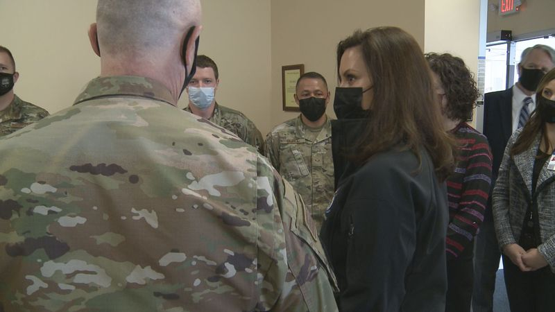 Governor Whitmer spent Friday morning touring vaccination sites throughout Michigan, one of...