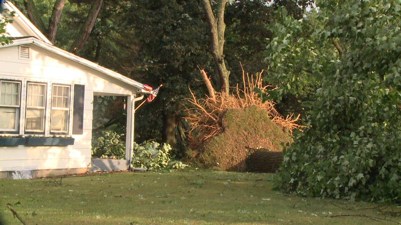 In Michiana, heavy damage was also left behind. Many woke up to trees on top of homes, roads...