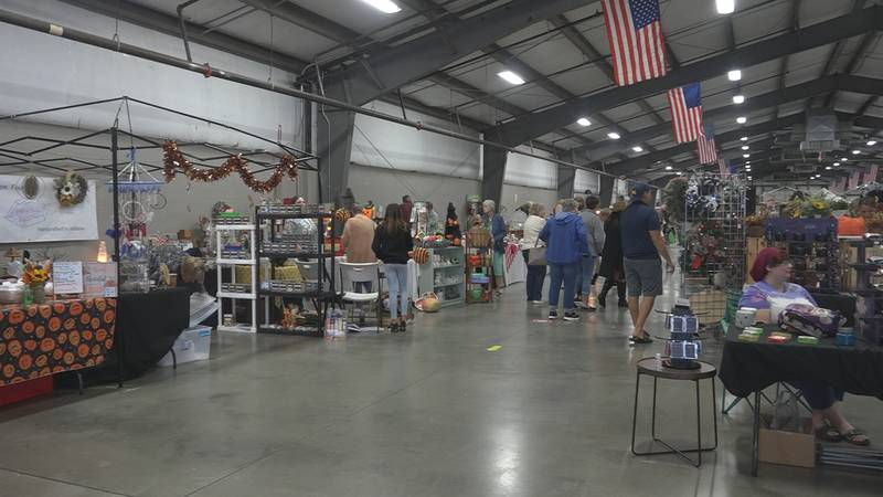 More than 100 booths selling handmade, vintage, and boutique items lined the walls at the 4H...