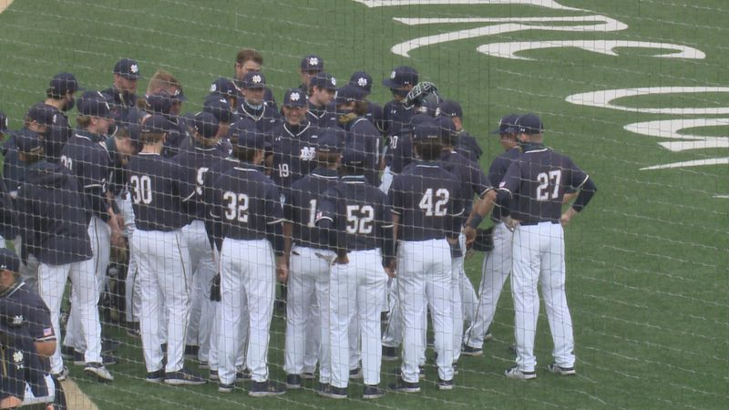 The No. 12 Notre Dame baseball team couldn't get the bats going as it dropped the series finale...