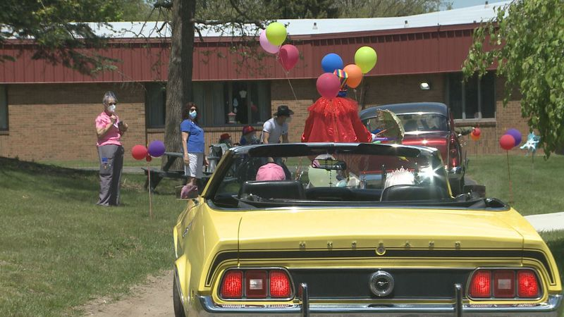 A parade at a Cassopolis nursing home lifts everyone's spirits after a challenging year.