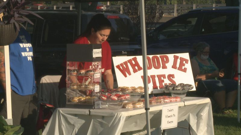 Yoder's Whoopie Pies set up at the Elkhart Farmers Market
