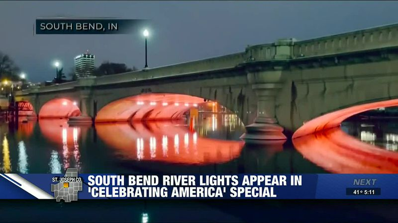South Bend river lights appear on inauguration special