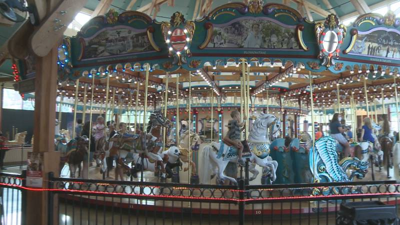 This carousel started spinning here in 2010, but the history of a carousel at Silver Beach goes...