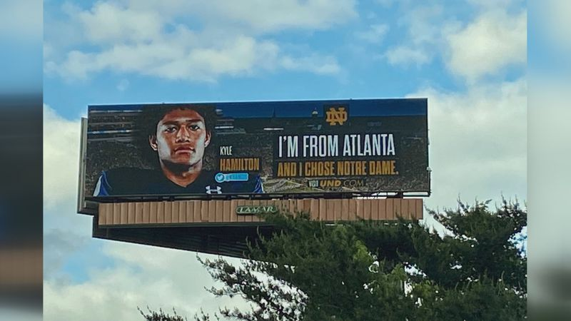 Kyle Hamilton billboard in Atlanta