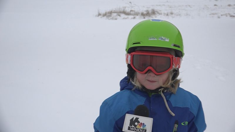"""A 3-year-old skier from Osceola thinks he is """"king of the hill."""""""