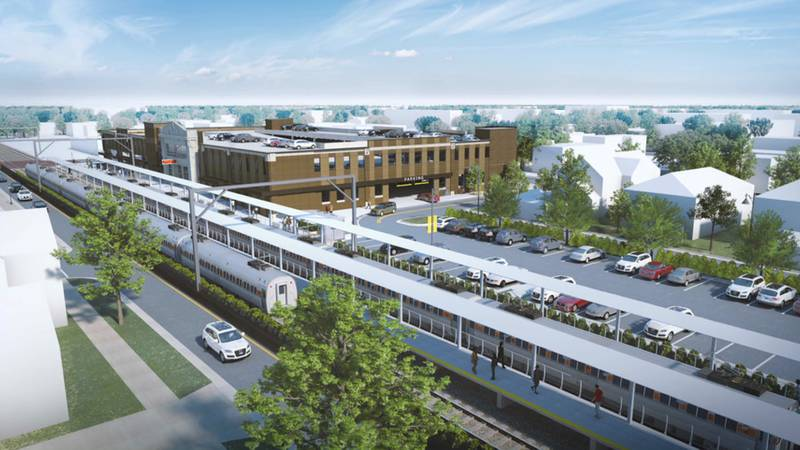 """The city is prepared to """"go bold"""" where the construction of a new South Shore Line station is..."""