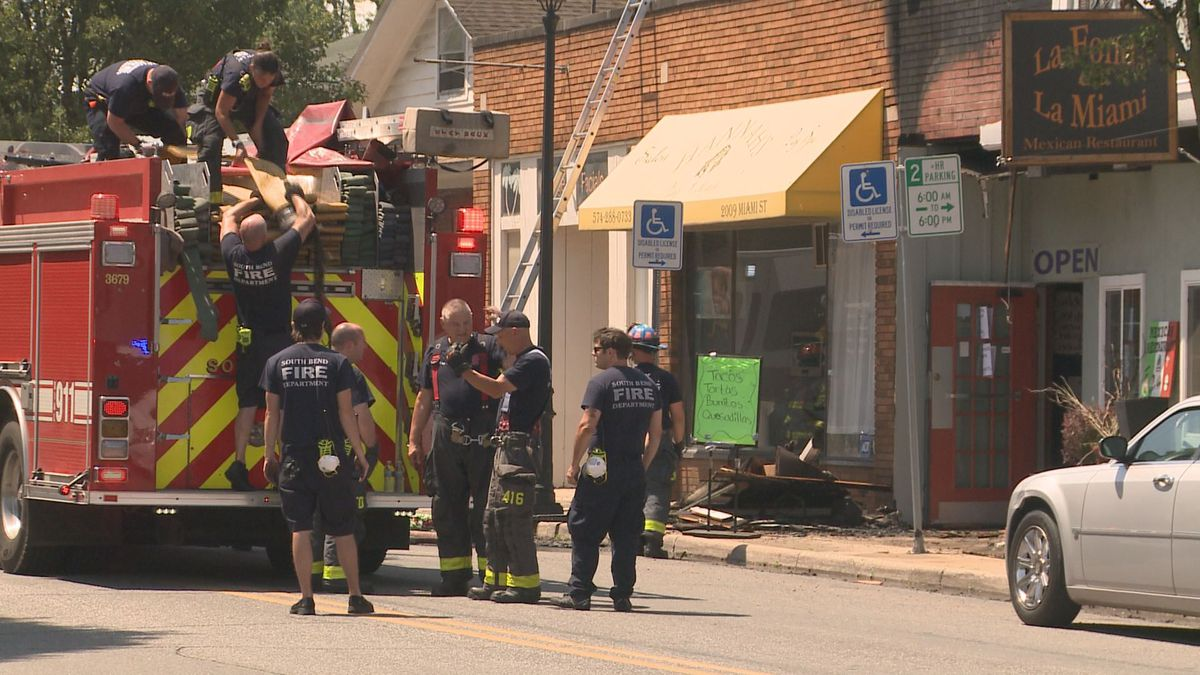 The South Bend Fire Department responded to a business fire on the south side midday Friday.