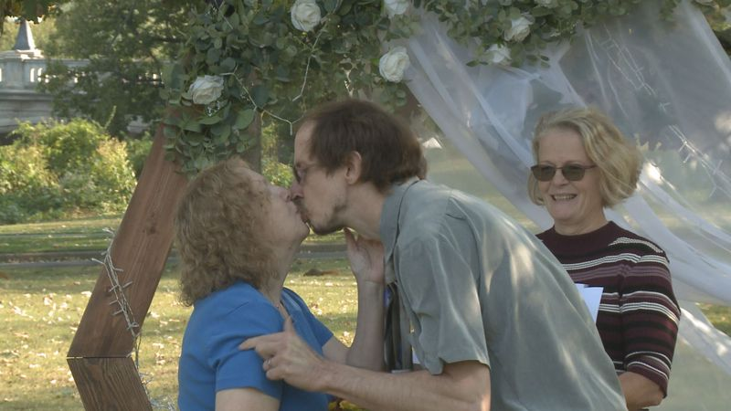 Couples looking to tie the knot sealed the deal, and all they needed was a marriage license,...