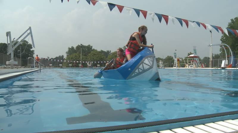 The second annual Cardboard Boat Regatta in Mishawaka was a close race between two teams.