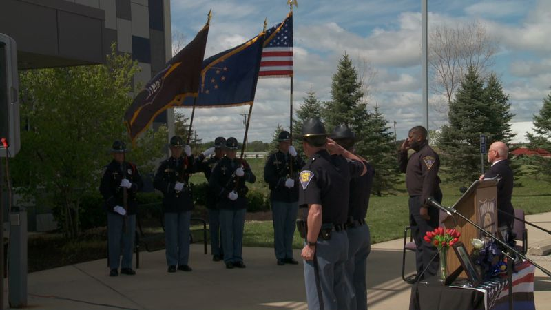 A ceremony was held Wednesday morning at the toll road post in Bristol, honoring those who lost...