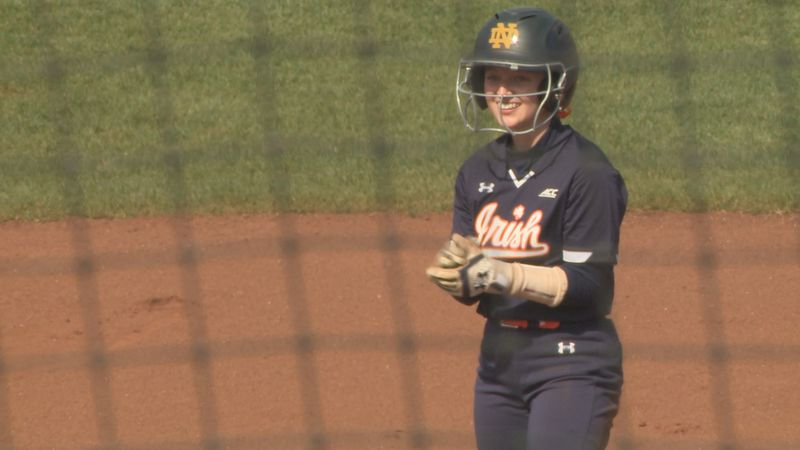 Cassidy Grimm stands on second after double against Charlotte.