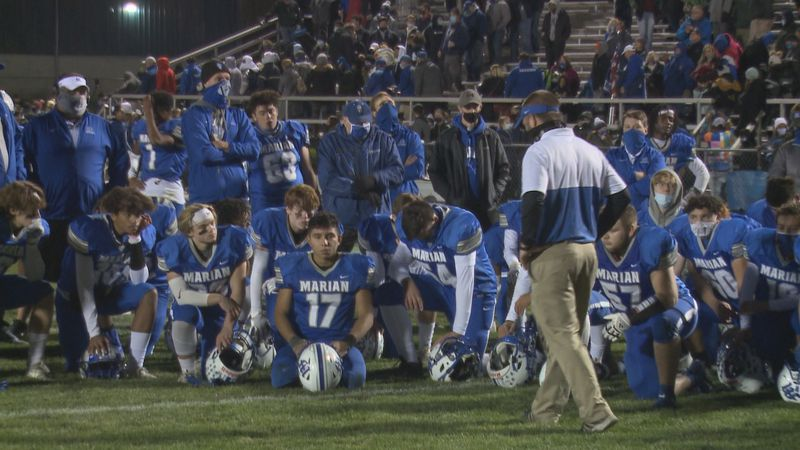 Mishawaka Marian fell to Bishop Chatard 18-13 in the Class 3A Semi-state rematch on Friday night.