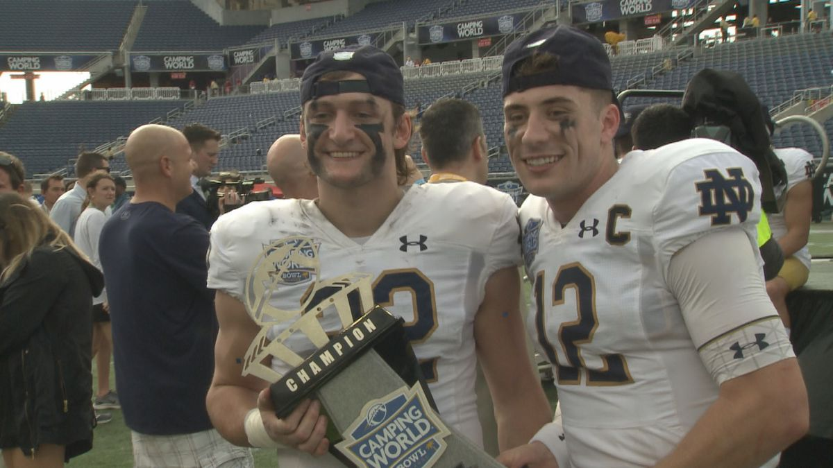 The former walk-on earned a scholarship before Notre Dame's match up with Iowa State in the...