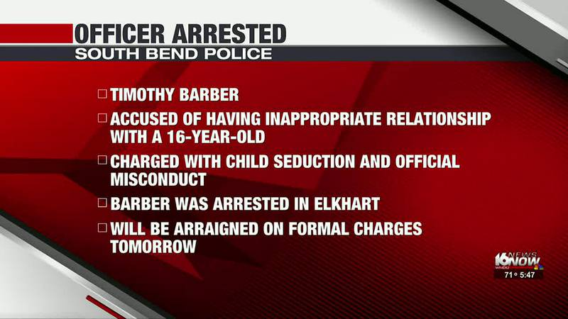A South Bend police officer has been charged after he was accused of having an inappropriate...