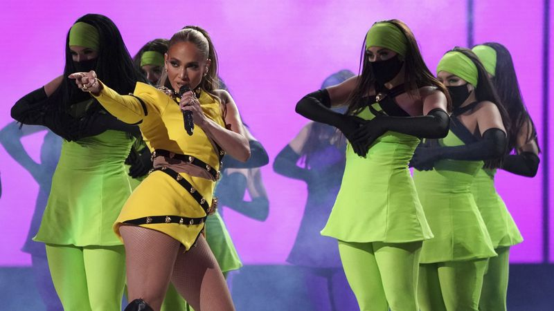 """Jennifer Lopez performs at """"Vax Live: The Concert to Reunite the World"""" on Sunday, May 2, 2021,..."""