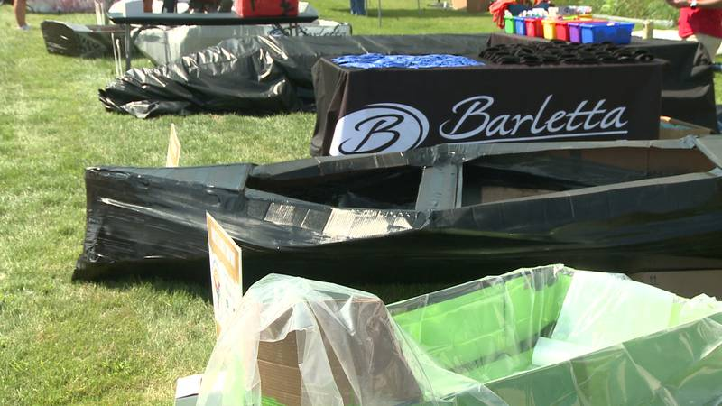 36 boats took to the pond outside LaSalle Bristol Flooring Center for a good cause.