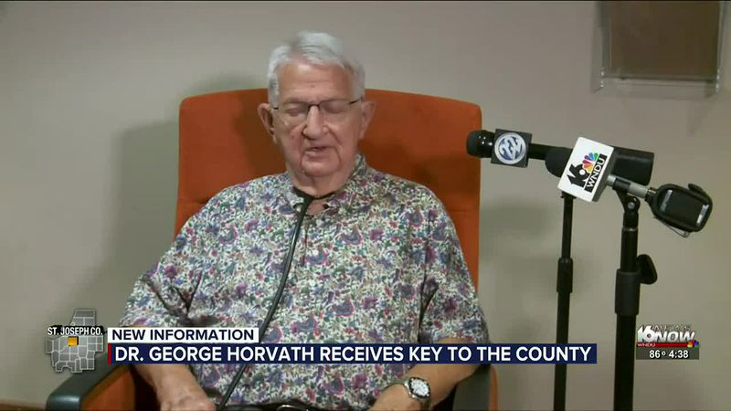 Dr. George Horvath receives Key to the County