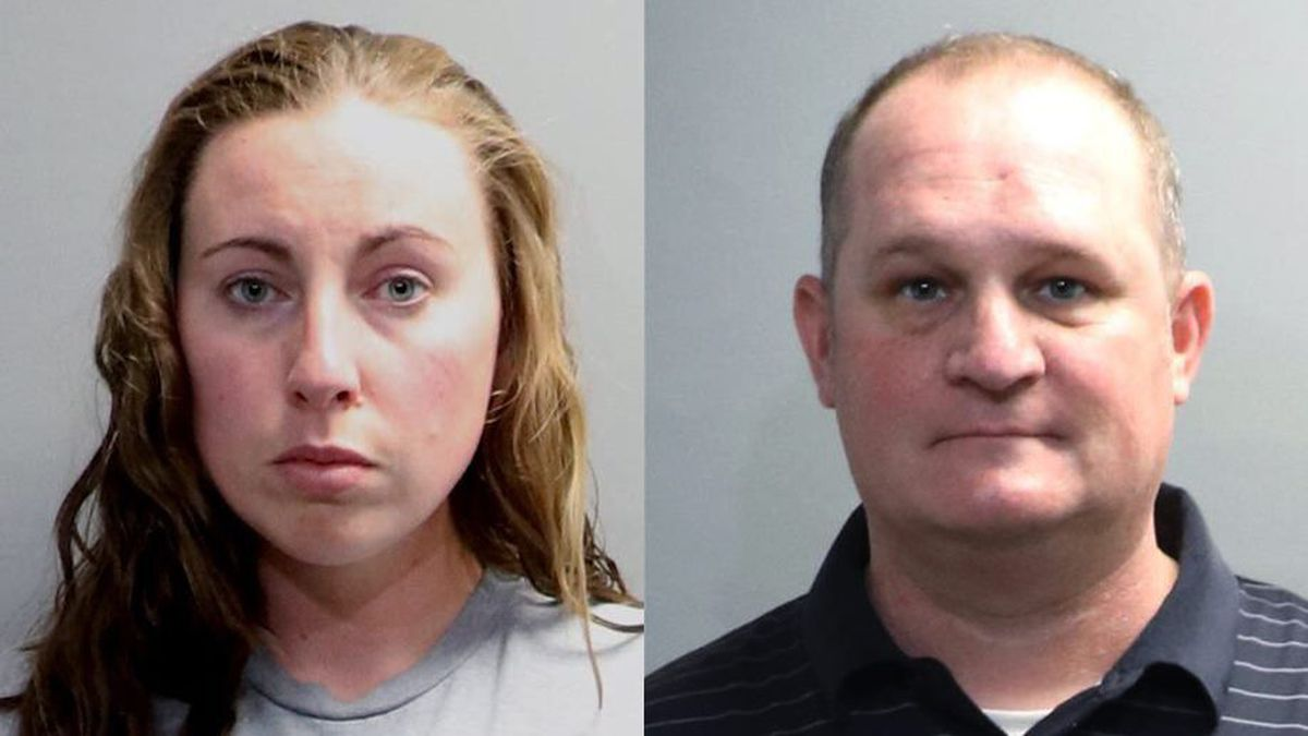 A photo provided by the Oakland County Sheriff's Office shows Jillian Wuestenberg. Wuestenberg and her husband, Eric Wuestenberg, were arrested after at least one handgun was pulled on a Black woman and her daughters during a videotaped confrontation in a restaurant parking lot in Orion Township, Mich., authorities said Thursday, July 2, 2020. The two were charged Thursday with felonious assault, Oakland County Prosecutor Jessica Cooper said in a release. (Oakland County Sheriff's Office via AP)