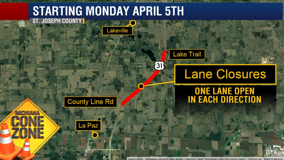 U.S. 30 to have lane closures between S.R. 4 and U.S. 6