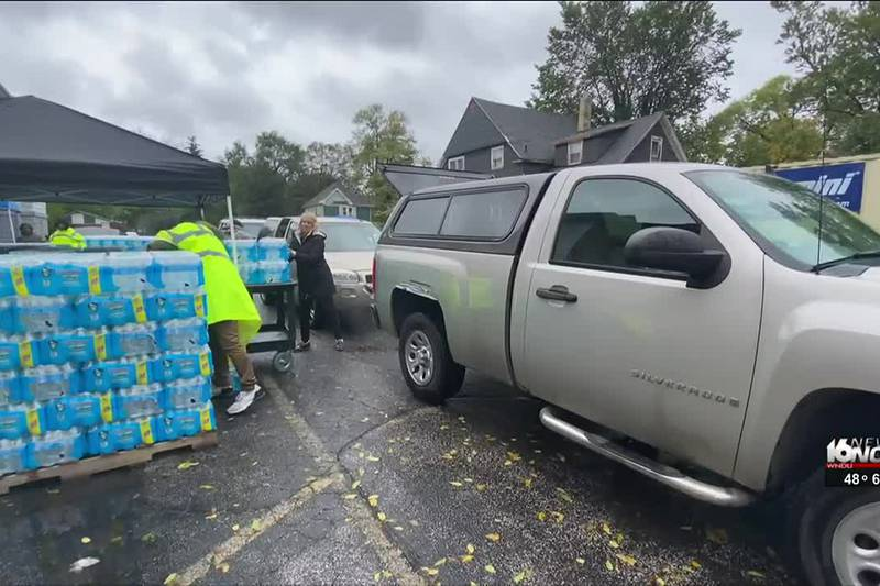 The city of Benton Harbor is in need of help as water distribution sites are beginning to fall...