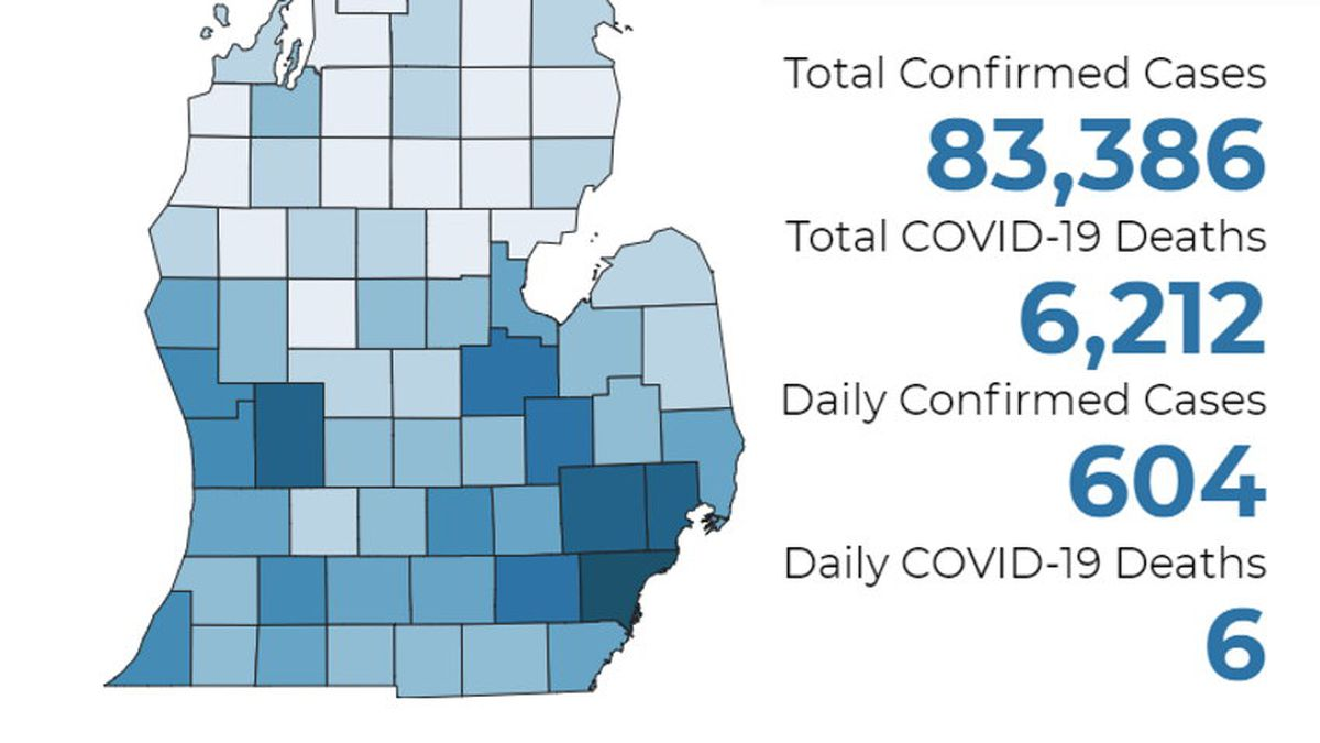 There have been at least 6,212 deaths and 83,386 confirmed cases throughout the state.