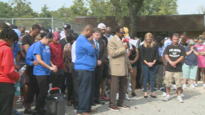 Prayer service for Tyler Brown brings community together.