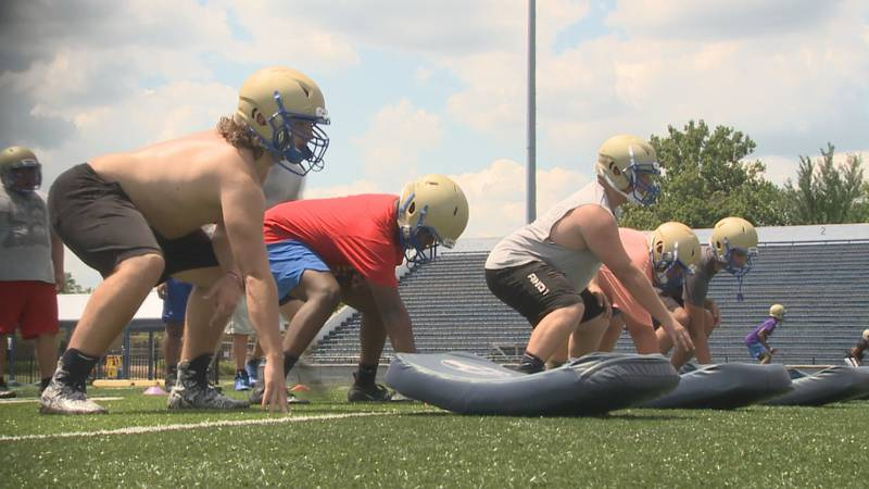 Elkhart High School football practices for the first time in 2021. WNDU