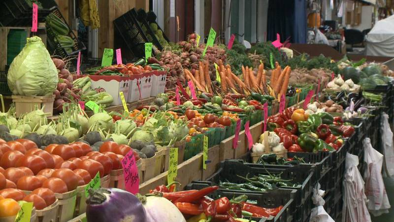 Right now, vendors are selling everything from pumpkins to apple cider, to turkeys and caramel...