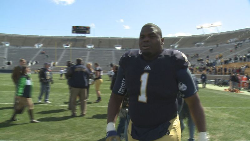 One of Kelly's first duties as the head football coach at Notre Dame was to fly down to...
