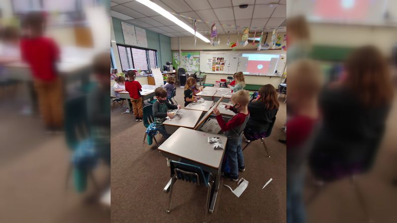 First graders at Coloma Elementary School are showing their moms just how much they love them...