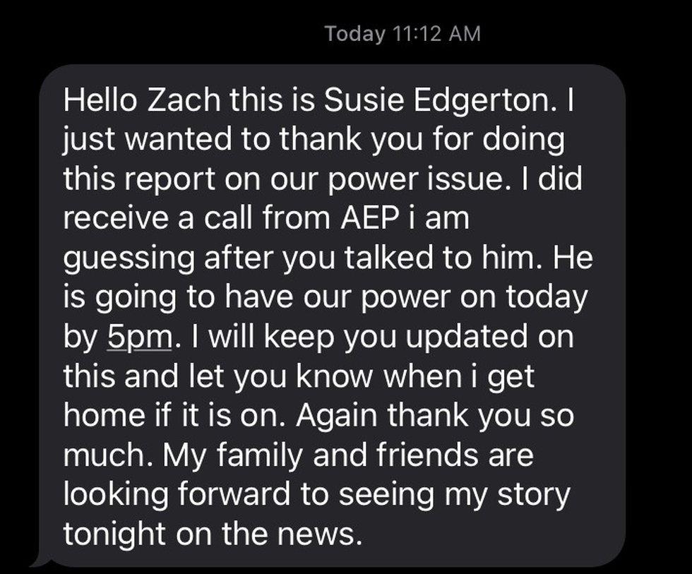 Response from Susie Edgerton