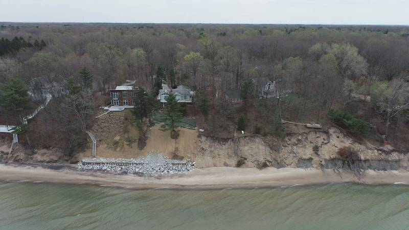 As record high lake levels continue to dominate the Michigan coast, shorelines in South Haven...
