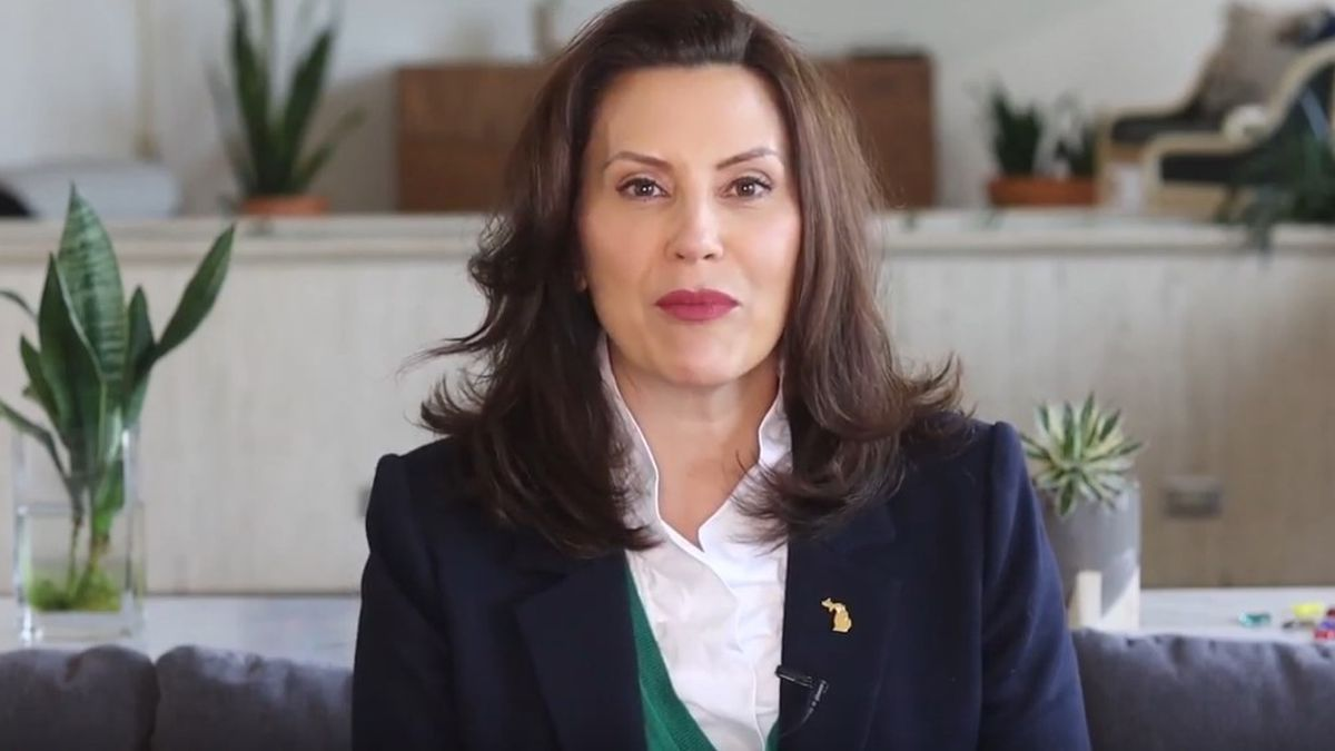 Gov. Gretchen Whitmer appears in a video with other Midwest governors encouraging adults to get...