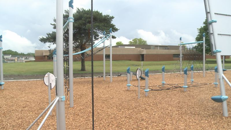The former Hums Park now includes a ninja warrior course.