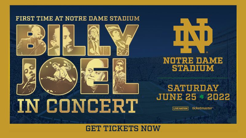 The upcoming Billy Joel concert at Notre Dame Stadium has been rescheduled to Saturday, June...