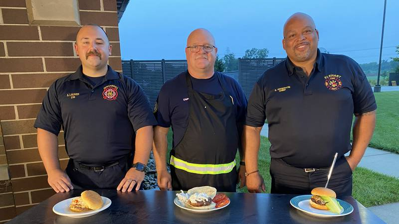 Three local fire departments competed on 16 Morning News Now's Firefighter Grill-Off.