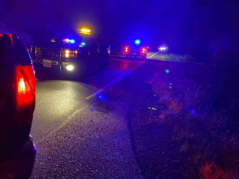 We're told a male victim was found pinned under his motorcycle. We're also told speed was a...