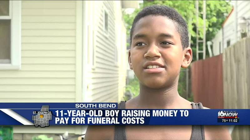 11-year-old raising money to pay for funeral costs