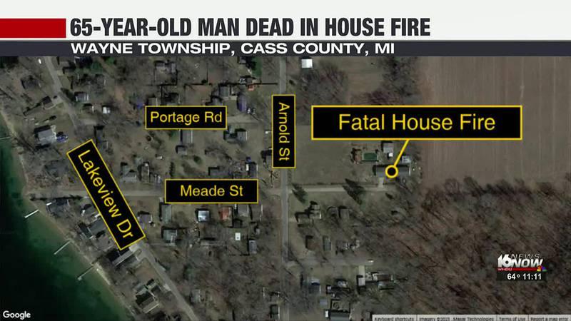 Dowagiac man dies in house fire Monday evening.