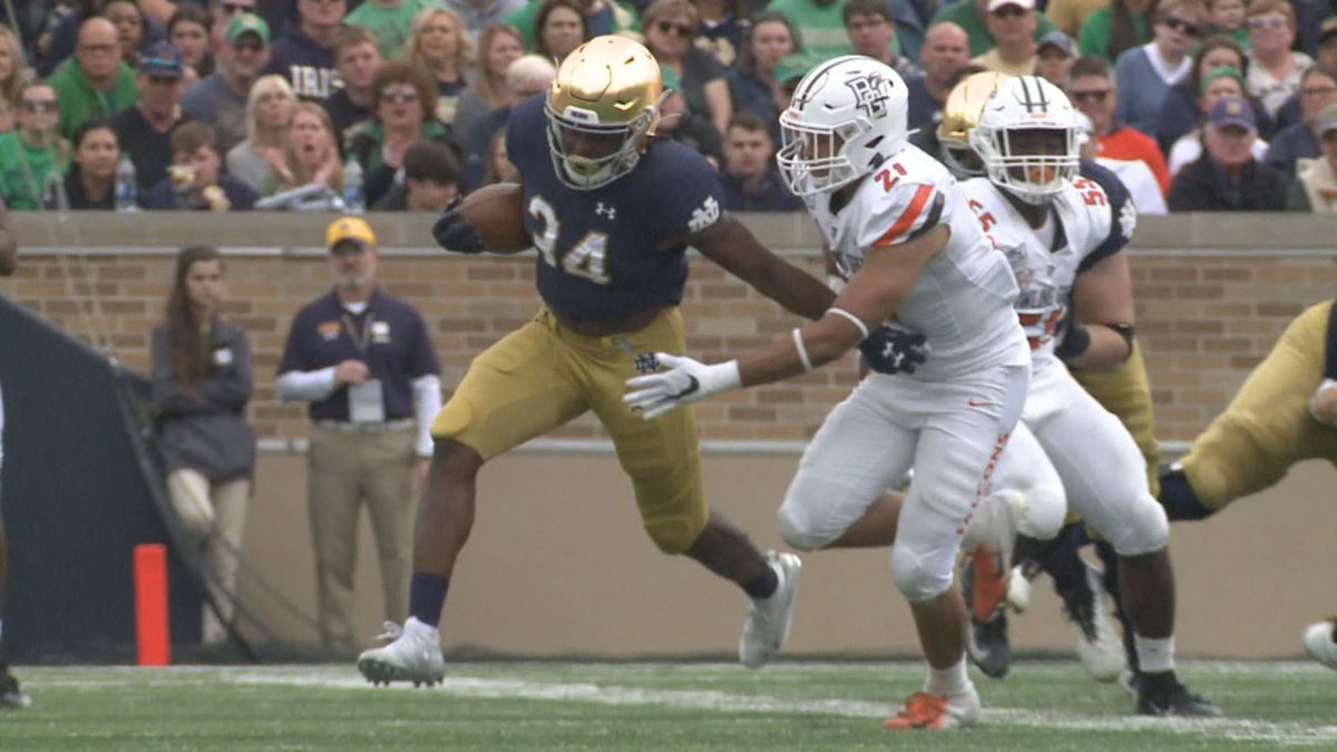 Smith says he is uncertain about his football future at Notre Dame but is working on his...