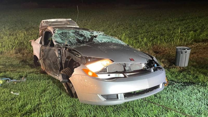 One killed, four injured in rollover crash.