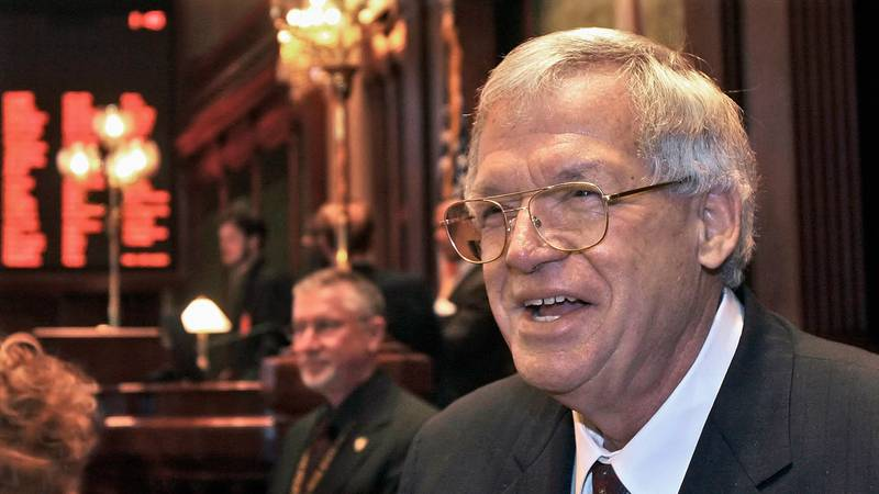 FILE - This March 5, 2008 file photo shows former U.S. House Speaker Dennis Hastert on the...