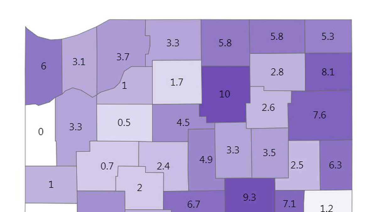 Indiana's 7-day positivity rate is 4.7%.
