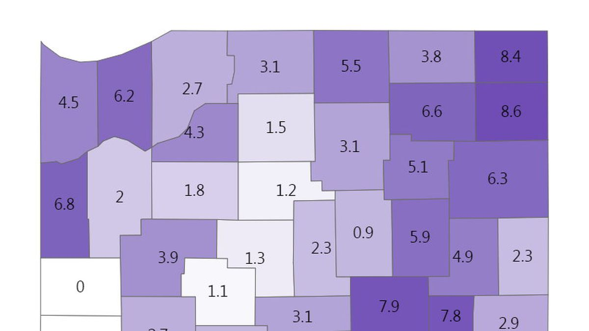 Indiana's 7-day positivity rate is 3.9%.