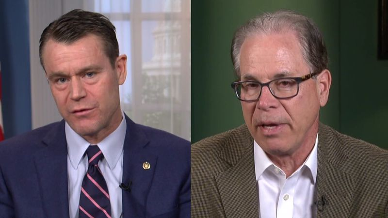 Indiana Senators Todd Young (left) and Mike Braun (right)